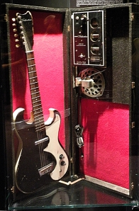 Silvertone guitar with in-case amp.