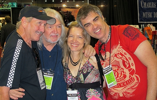 James, Seymour Duncan, Muriel Anderson, Sage Benado. Photo: Tom Prusik.